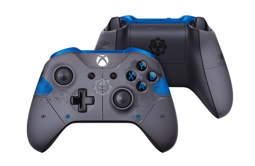The Gear of War 4 special edition of the revamped controller for the Xbox One.