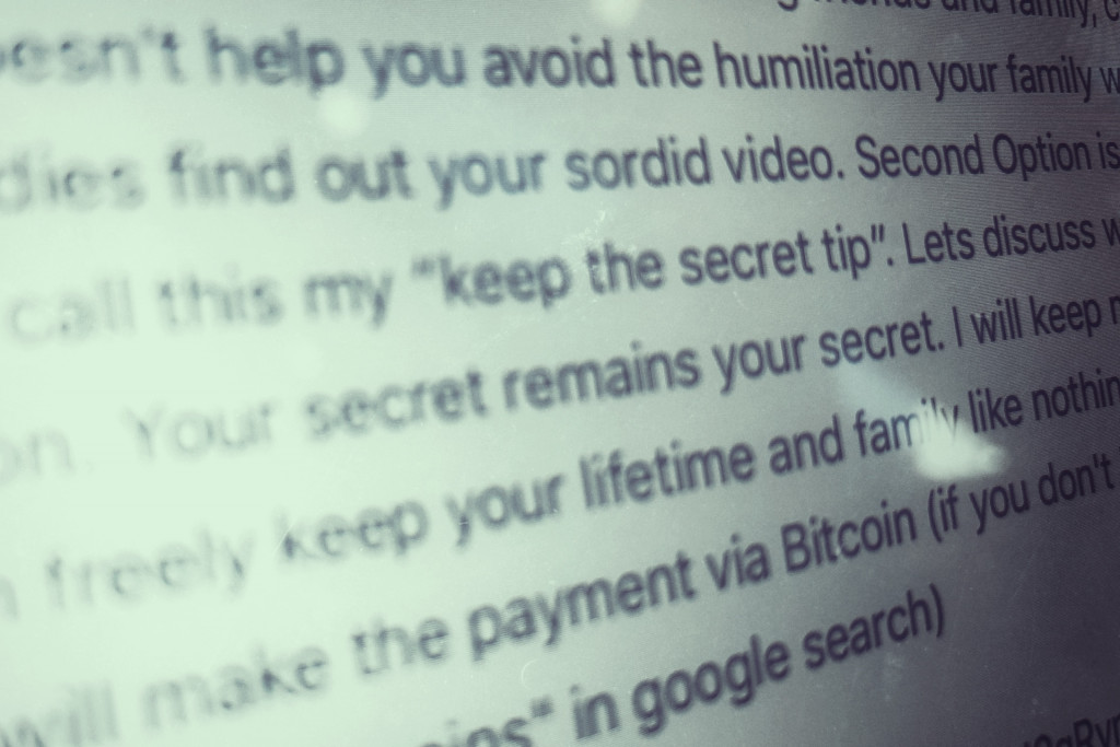 Email scams can threaten with videos