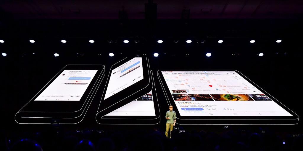 Samsung Infinity Flex folding phone display