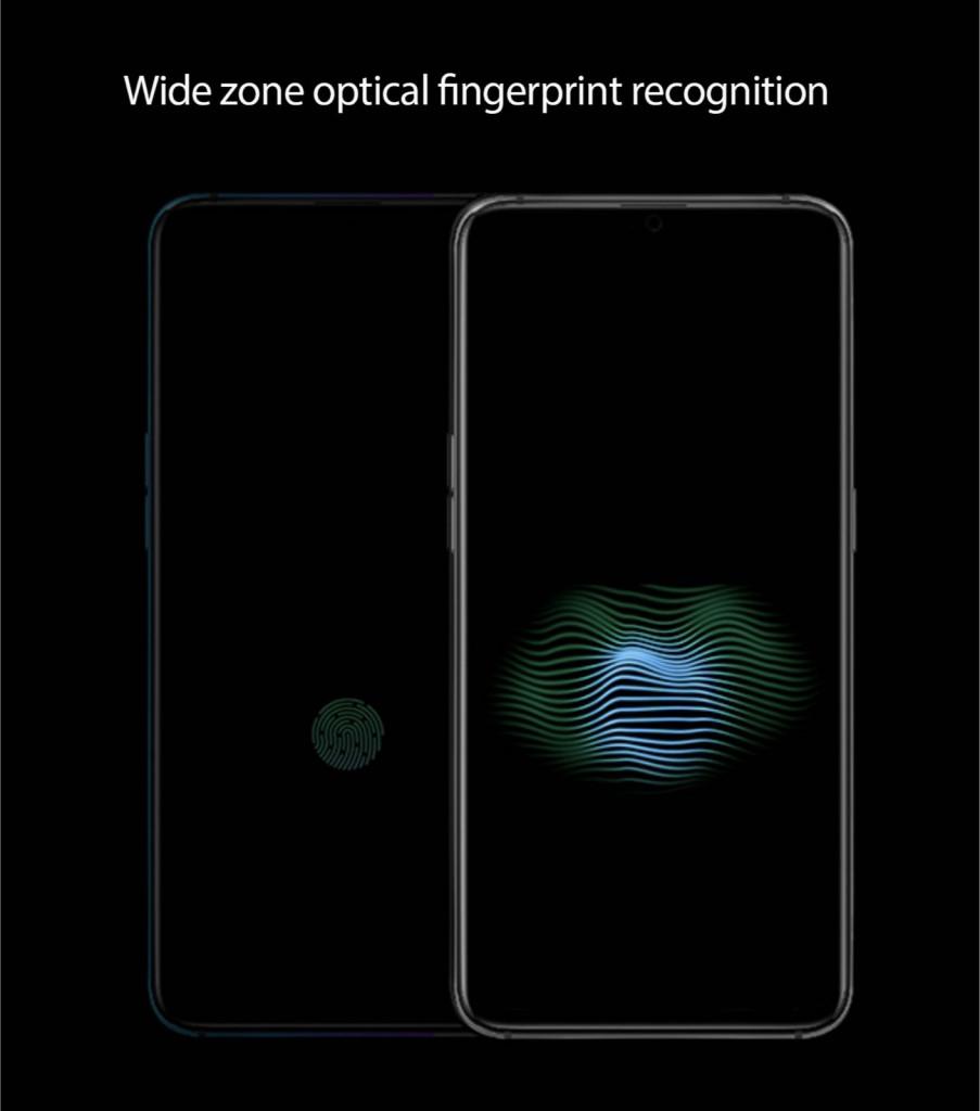 Oppo's wide zone fingerprint scanner for the screen
