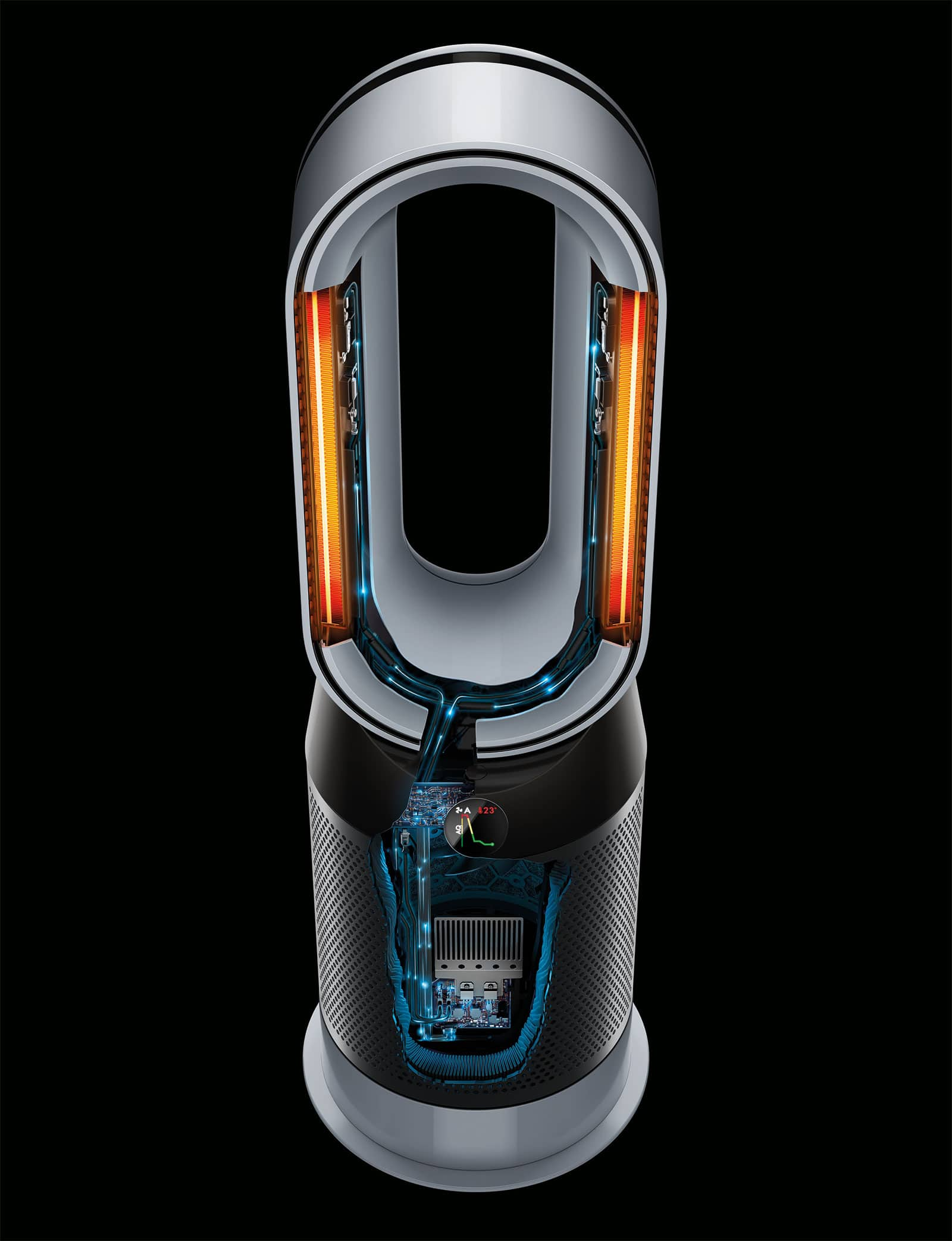 dyson 39 s improved air filtration comes to its hot cool fan. Black Bedroom Furniture Sets. Home Design Ideas