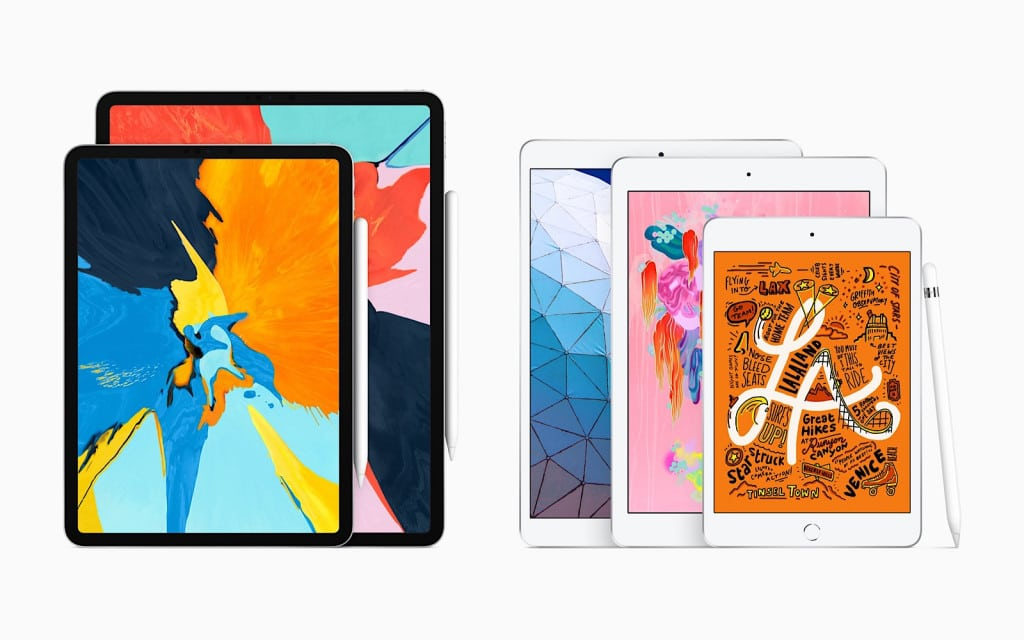 Apple iPad range for the first half of 2019
