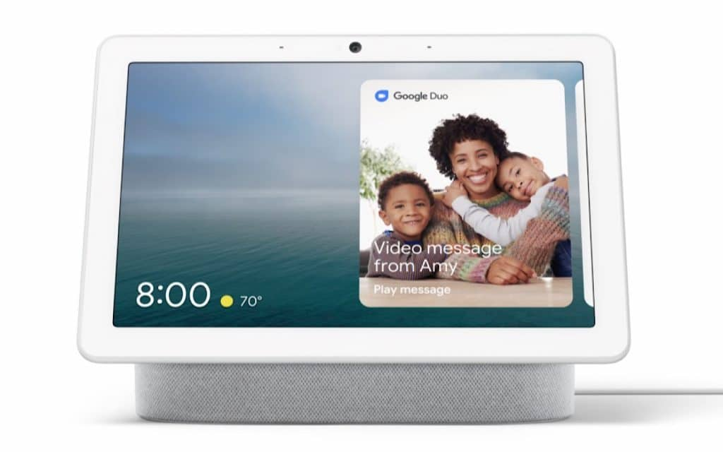 The 10 inch Google Nest Hub Max, announced at Google IO 2019
