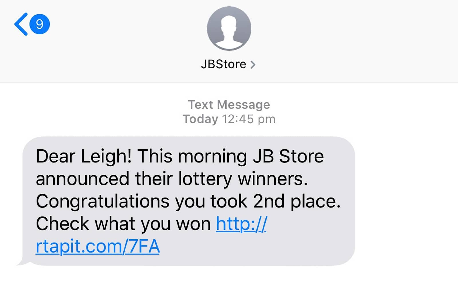 Is this SMS real? – Pickr