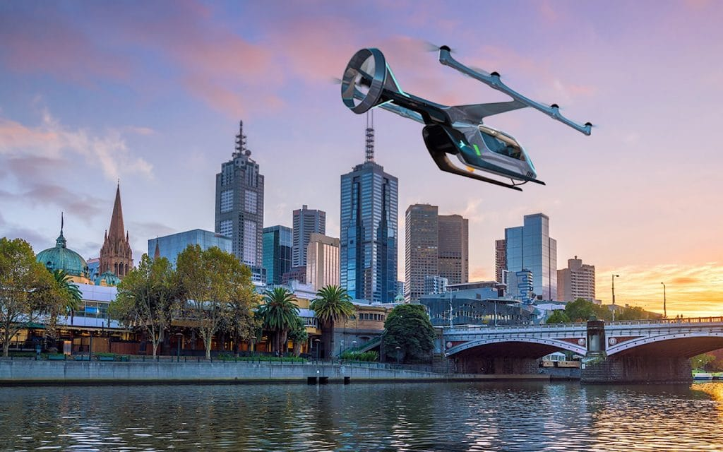 Uber Air announcement for Melbourne