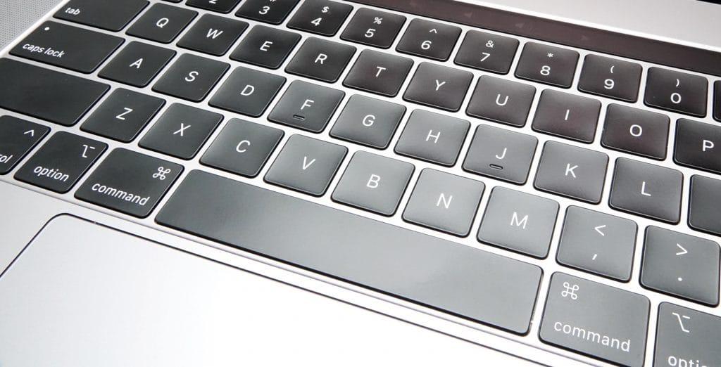 Keyboard on the 2019 MacBook Pro 15