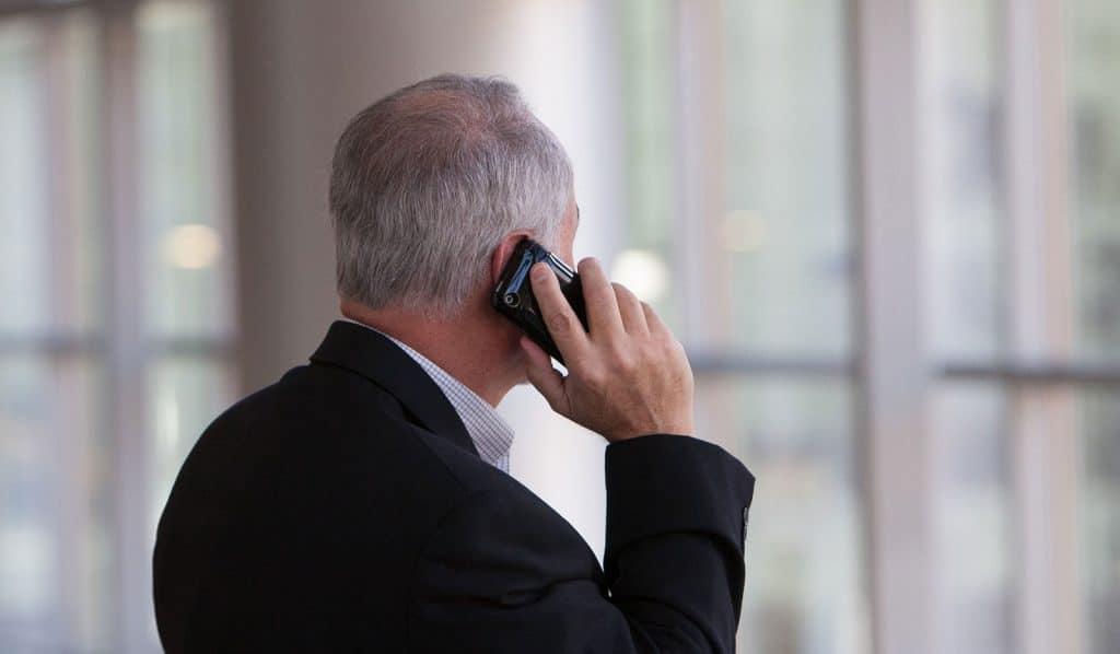 A man taking a call