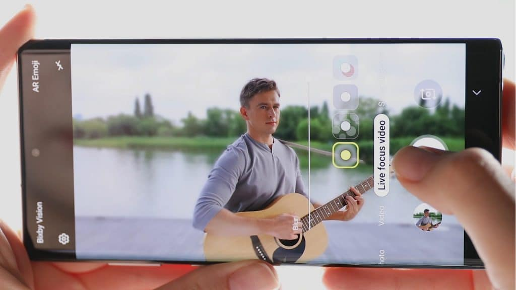 LIve focus video on the Note 10