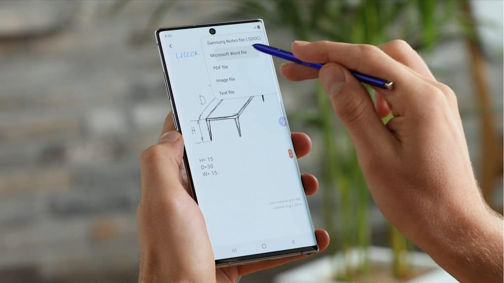 Using the S-Pen with the Note 10