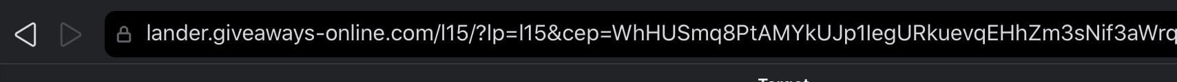 A dodgy URL on a JB HiFi SMS scam
