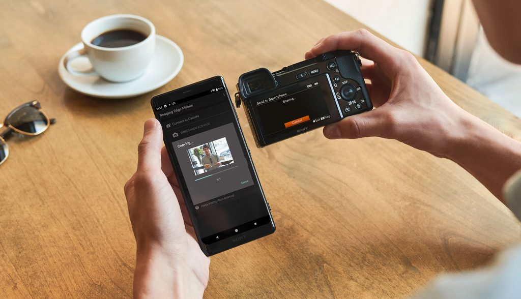 Wireless transfer is included on the Sony a6100 and a6600