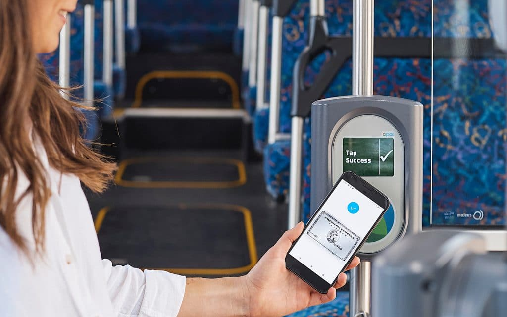 American Express used at an Opal reader on NSW buses7