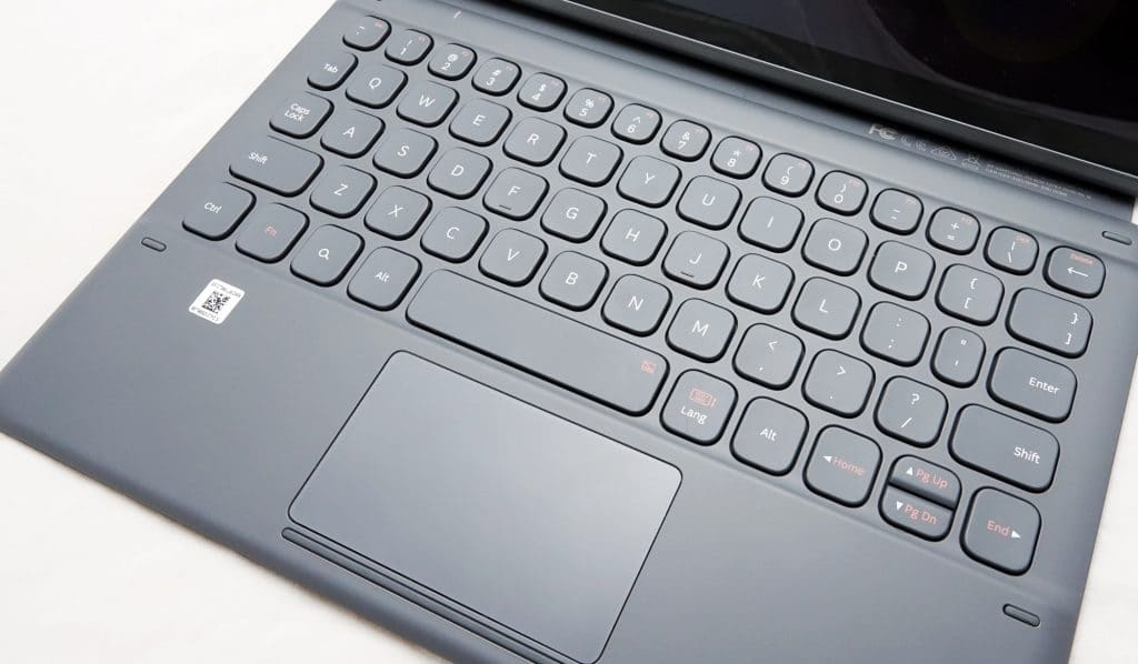 The keyboard of the Galaxy Tab S6