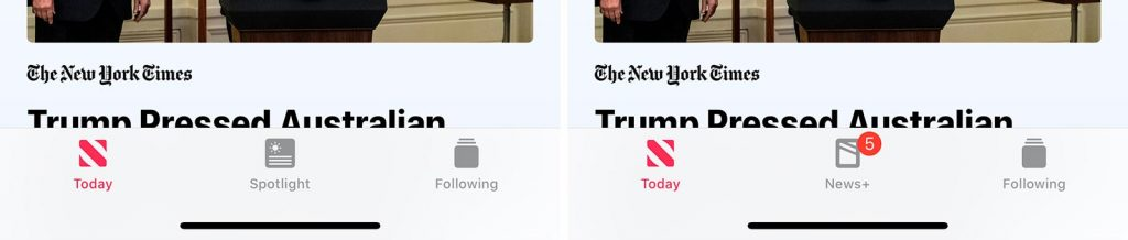 Apple News before News+ and after