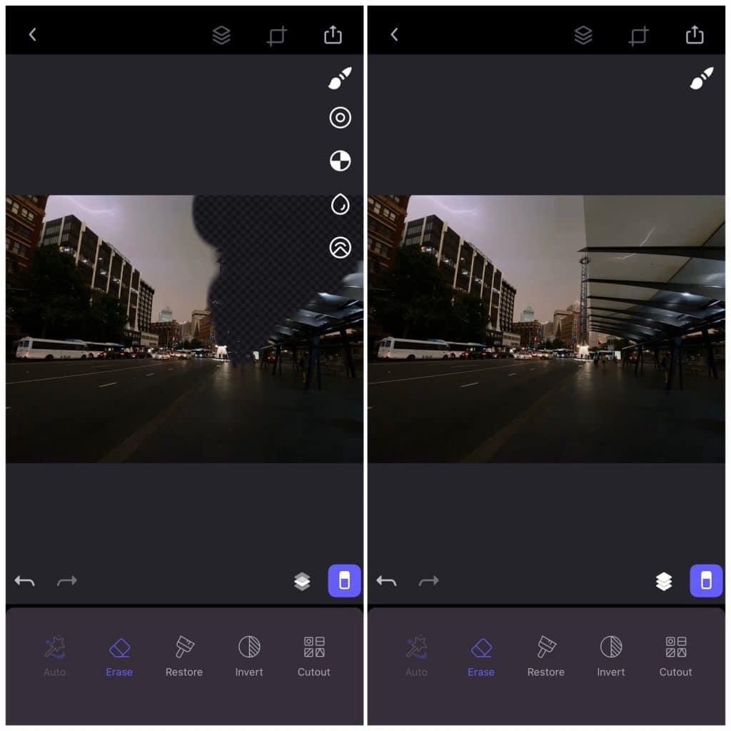 Photofox's layer editing