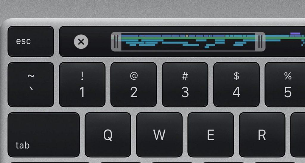 Keyboard on the Apple 16 inch MacBook Pro