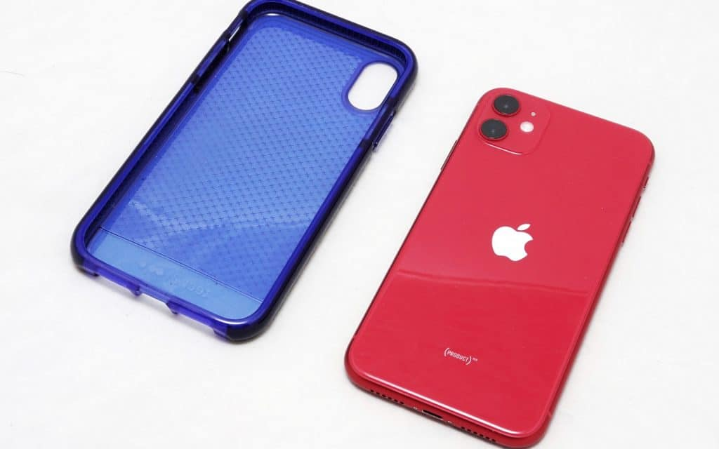 iPhone XR case with an iPhone 11