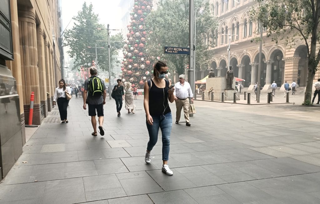 Smoke in Sydney has reached air mask levels