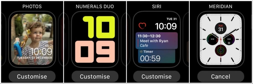 Customising the Apple Watch faces