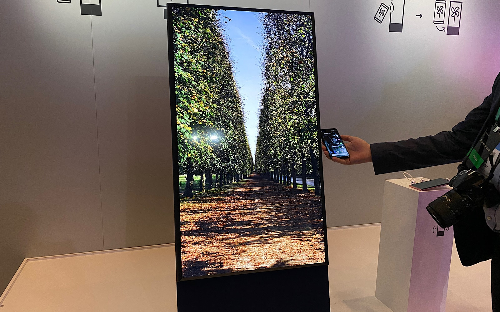 Samsung's The Sero, a vertical TV at CES 2020
