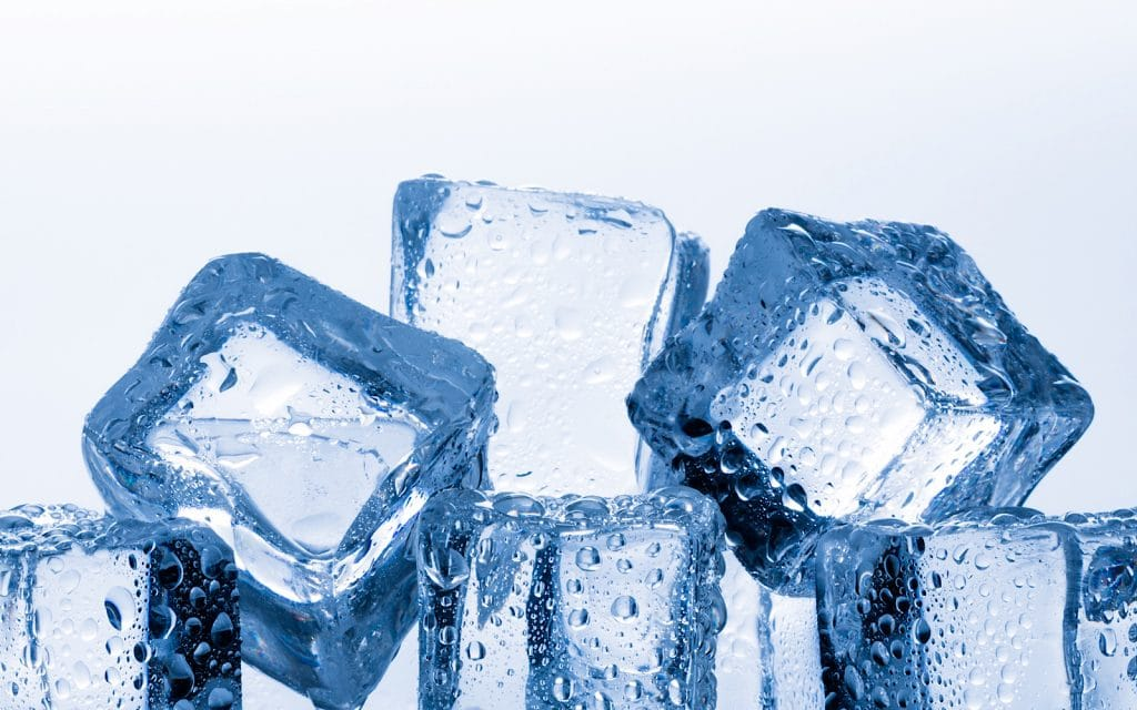 Ice cubes and keeping cool