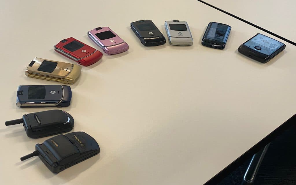 Motorola's clamshell phones