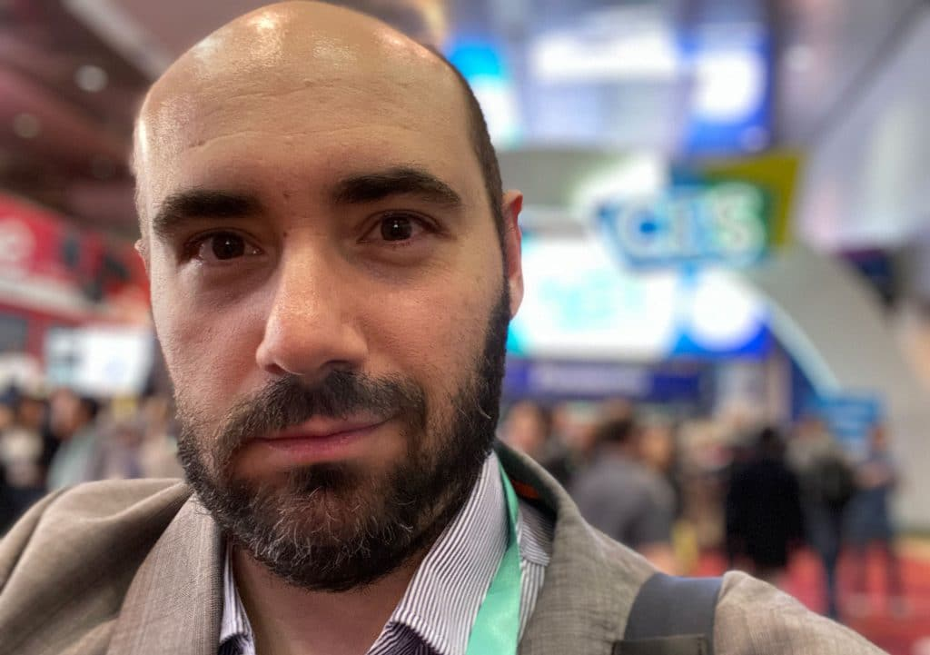 Editor of Pickr and Host of The Wrap, Leigh Stark at CES 2020 in Las Vegas