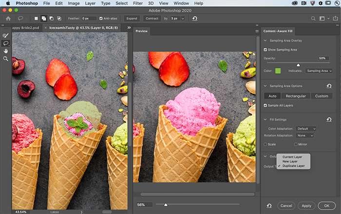 Content Aware Fill on Photoshop's updates in 2020