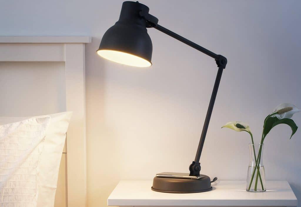 IKEA Hektar wireless charge lamp