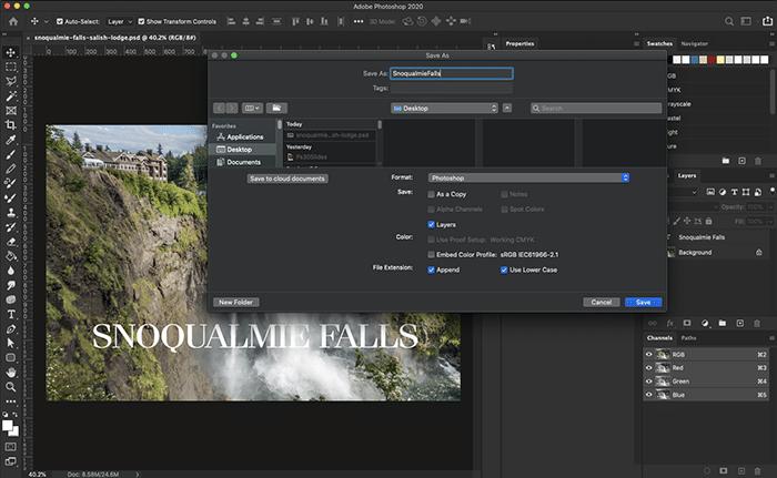 Dark mode UI on Photoshop's 2020 updates