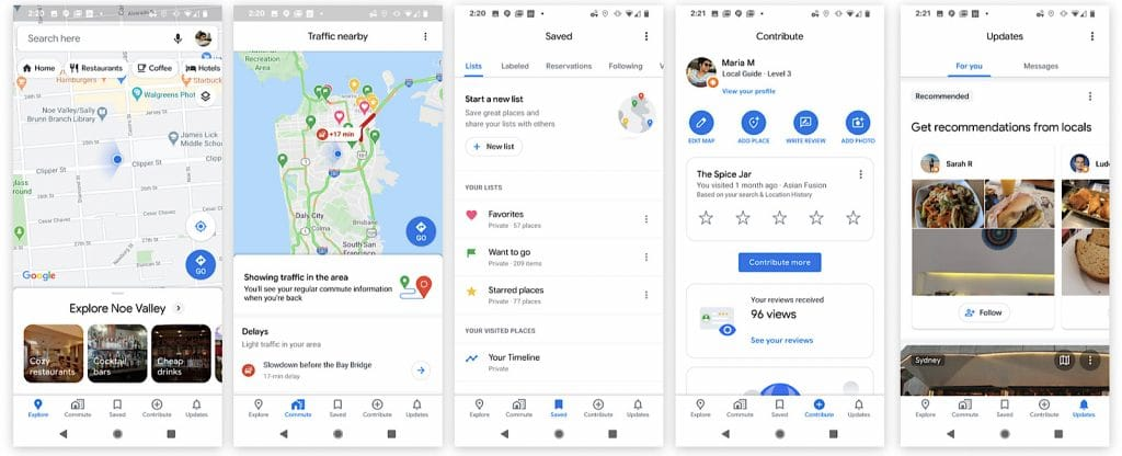 Google Maps app changes today in 2020