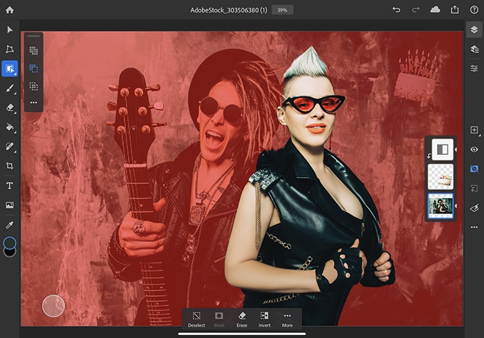 Object Selection on Photoshop for iPad