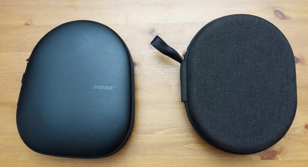 Bose 700 vs Sony WH-1000XM3 cases