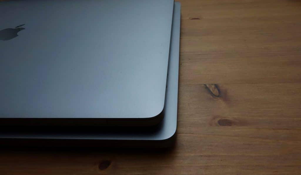 Apple MacBook Pro 15 on top of the MacBook Pro 16