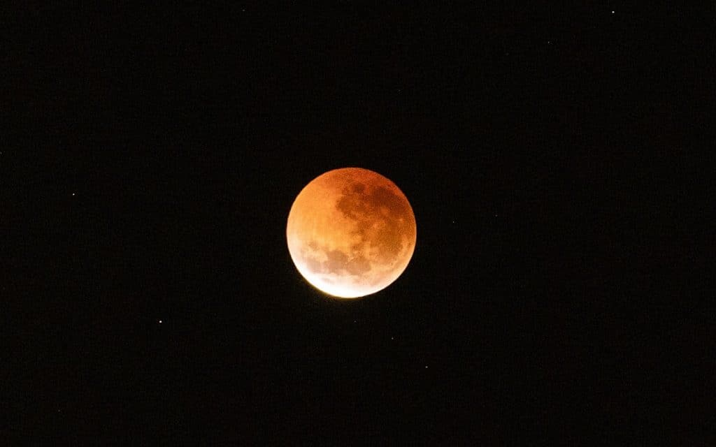 A lunar eclipse of the moon