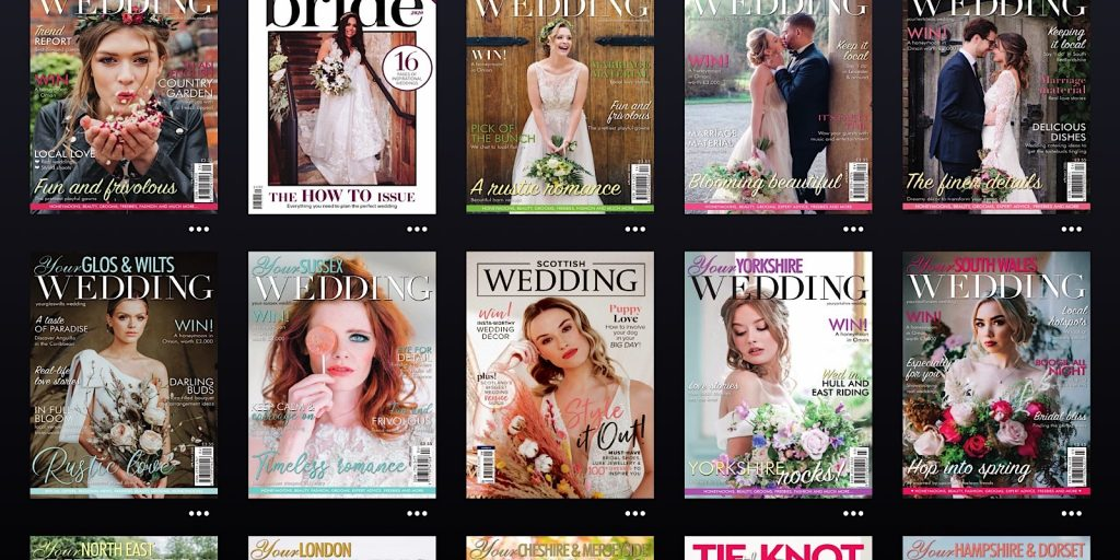 The sheer number of English wedding mags on Readly on the iPad Pro