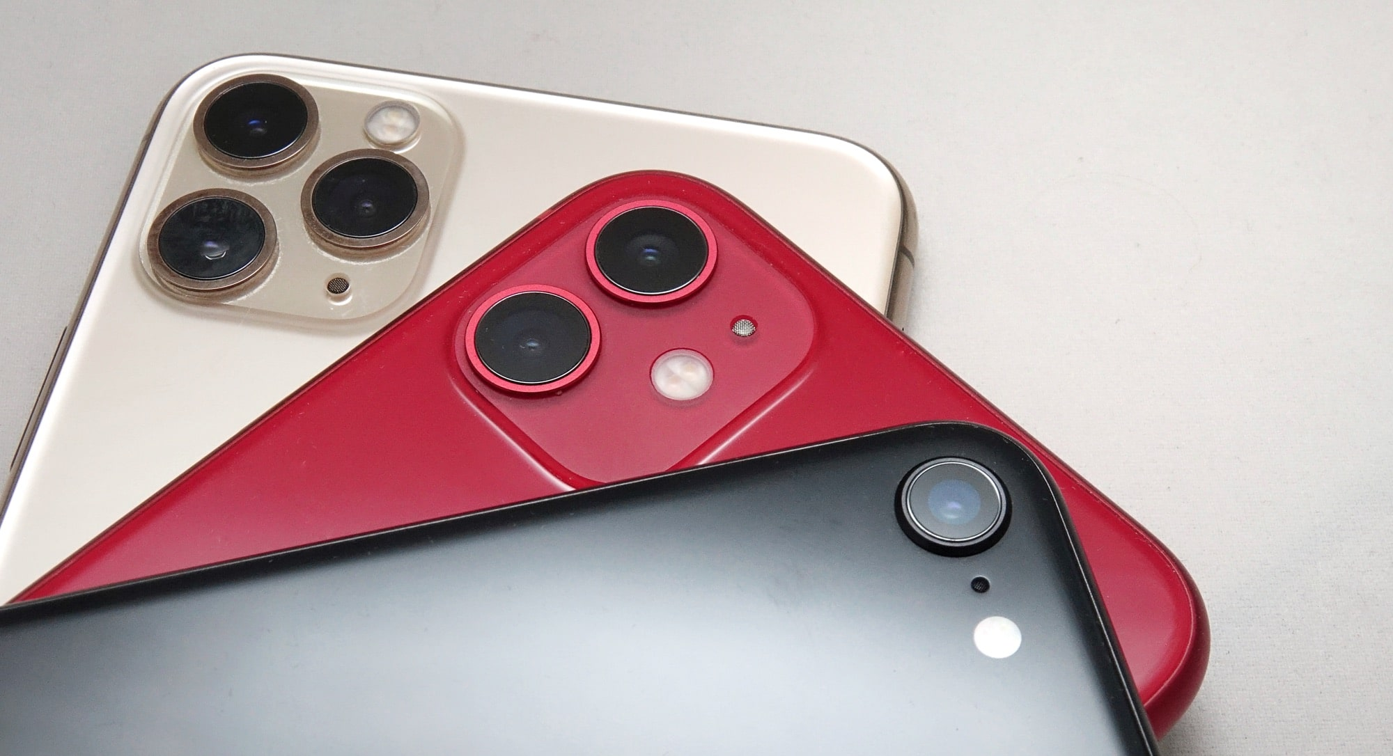 Apple iPhone SE camera against the 11 range