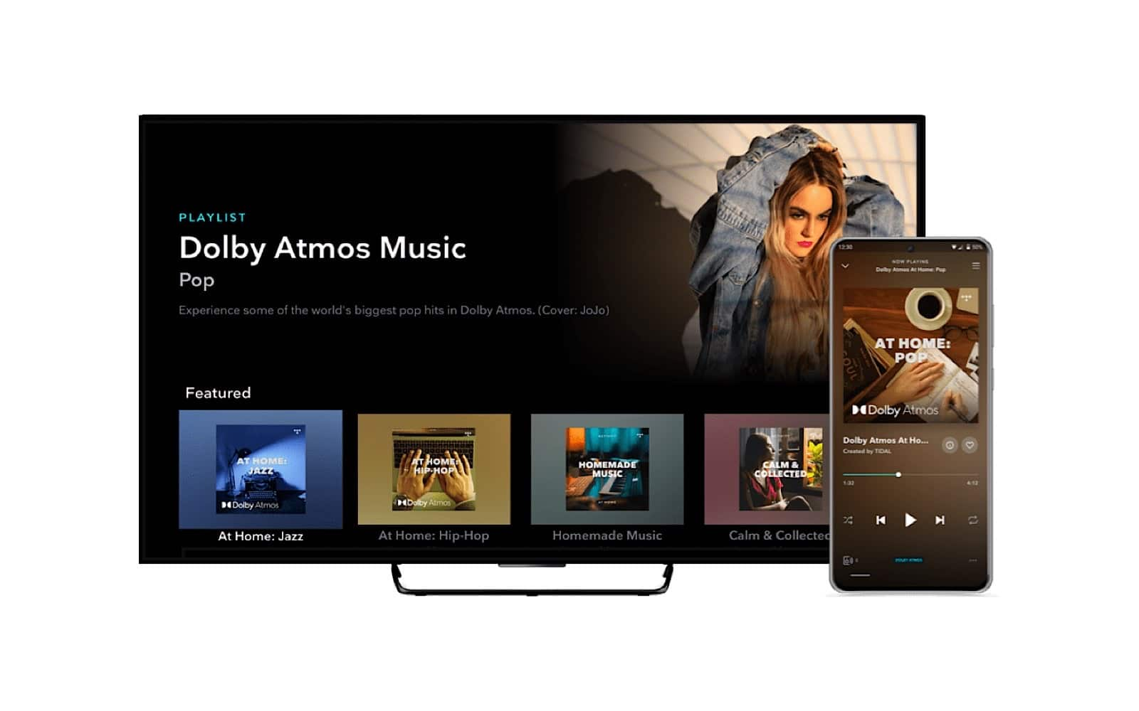 Tidal supports Dolby Atmos on TVs