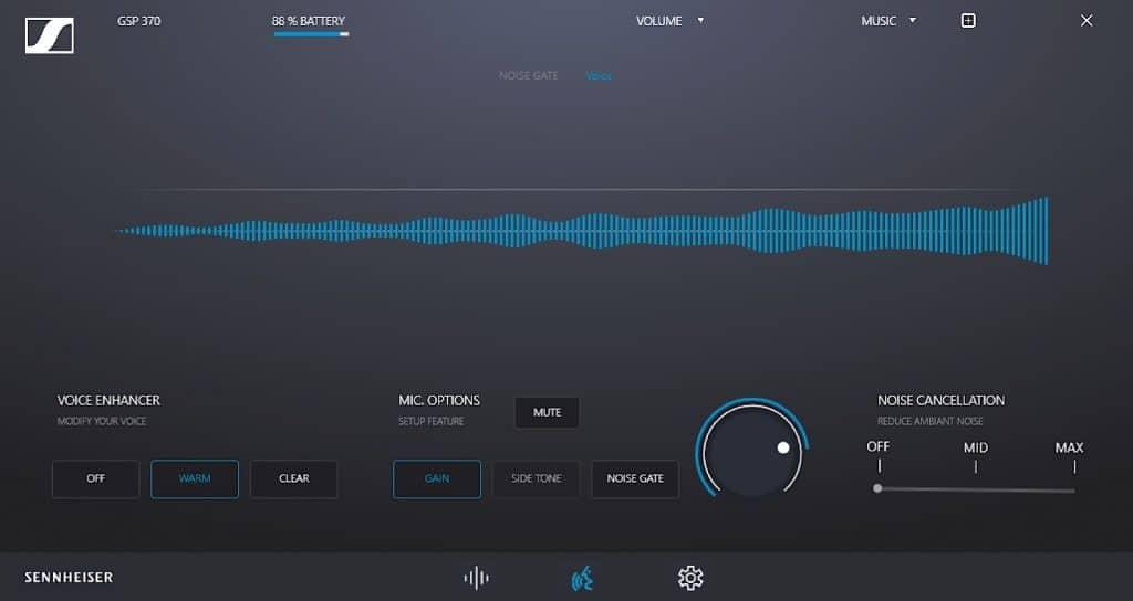 Sennheiser GSP 370 sound suite on Windows PC