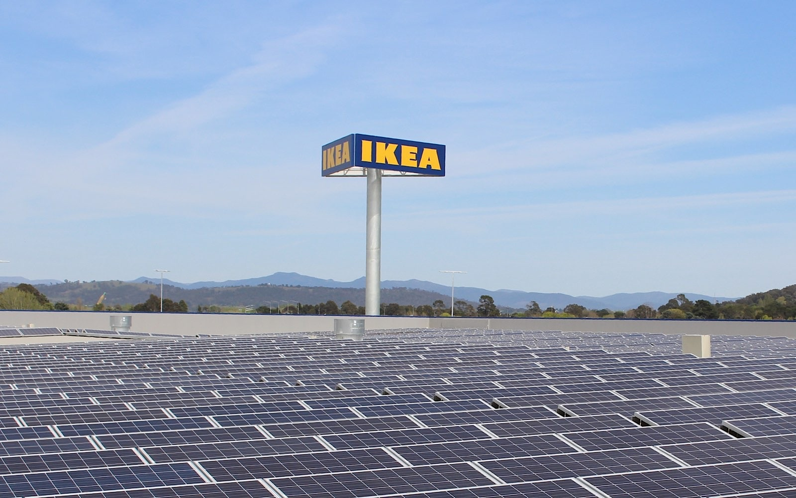 Solar panels at IKEA