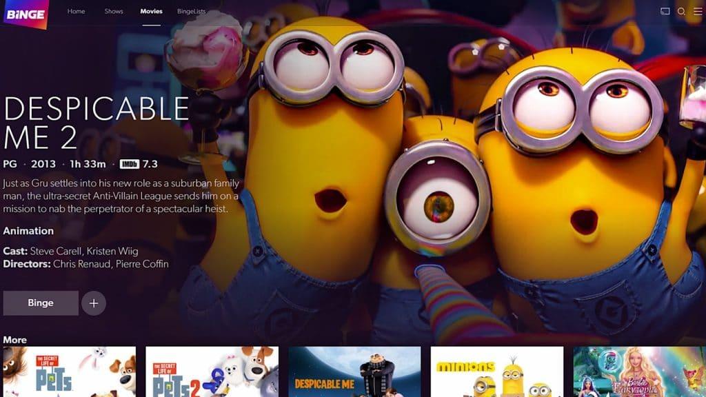 Kids movies on Binge