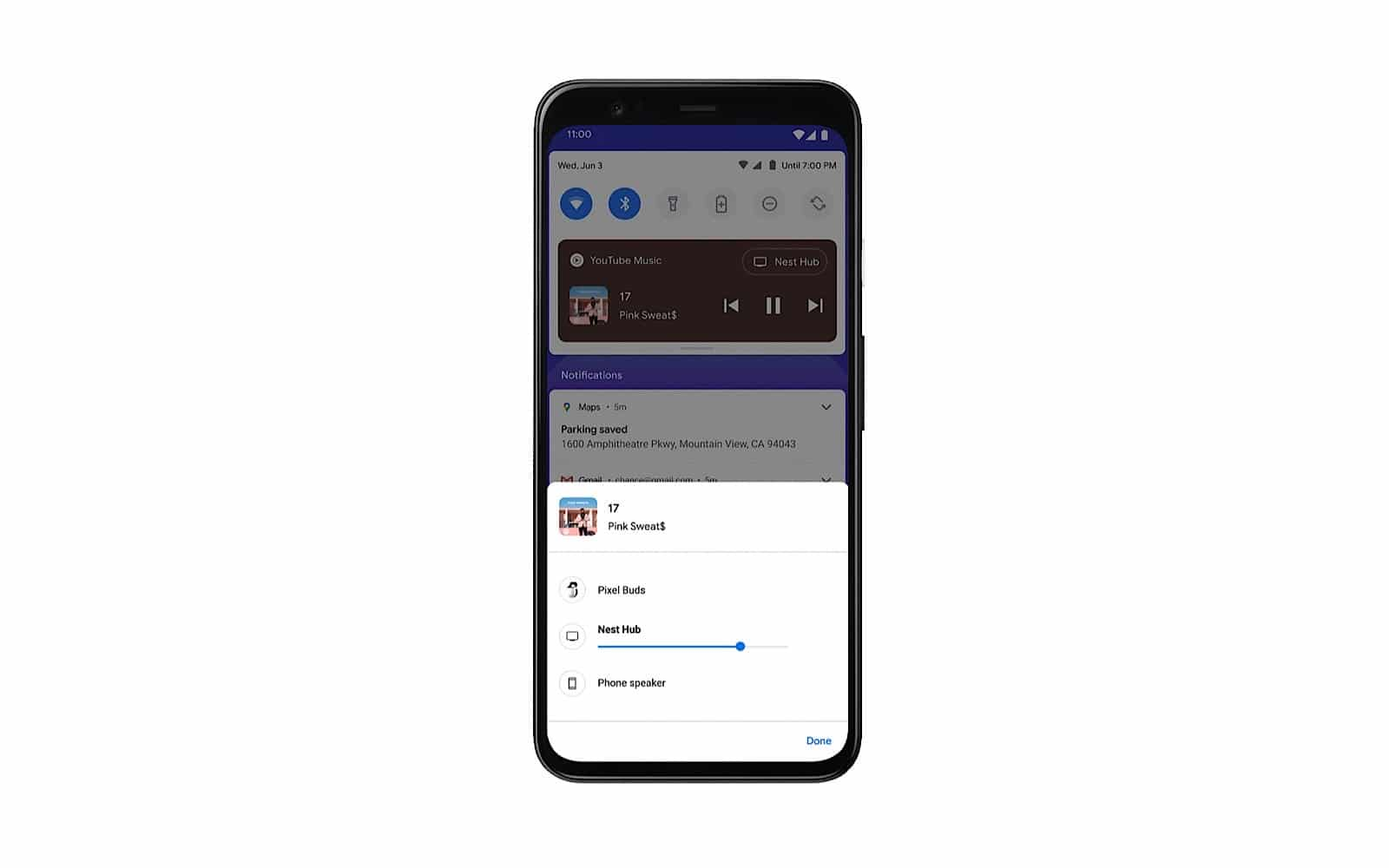 Android 11 Beta music controls