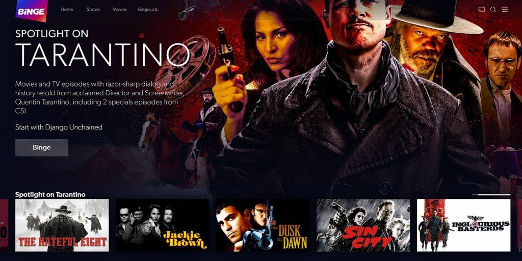 A Tarantino list on Binge