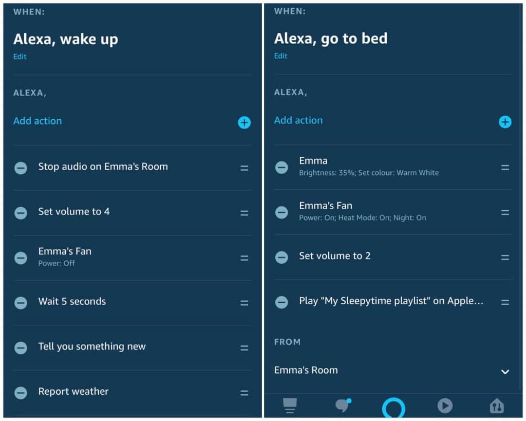 Exploring Alexa routines