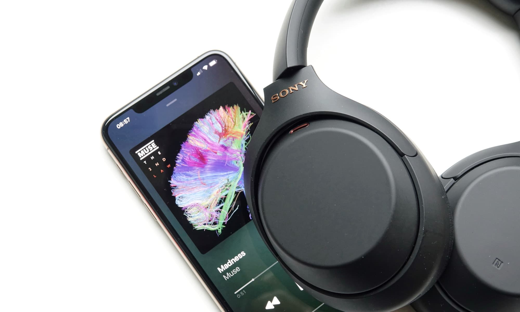Sony WH-1000XM4 on an iPhone 11 Pro Max
