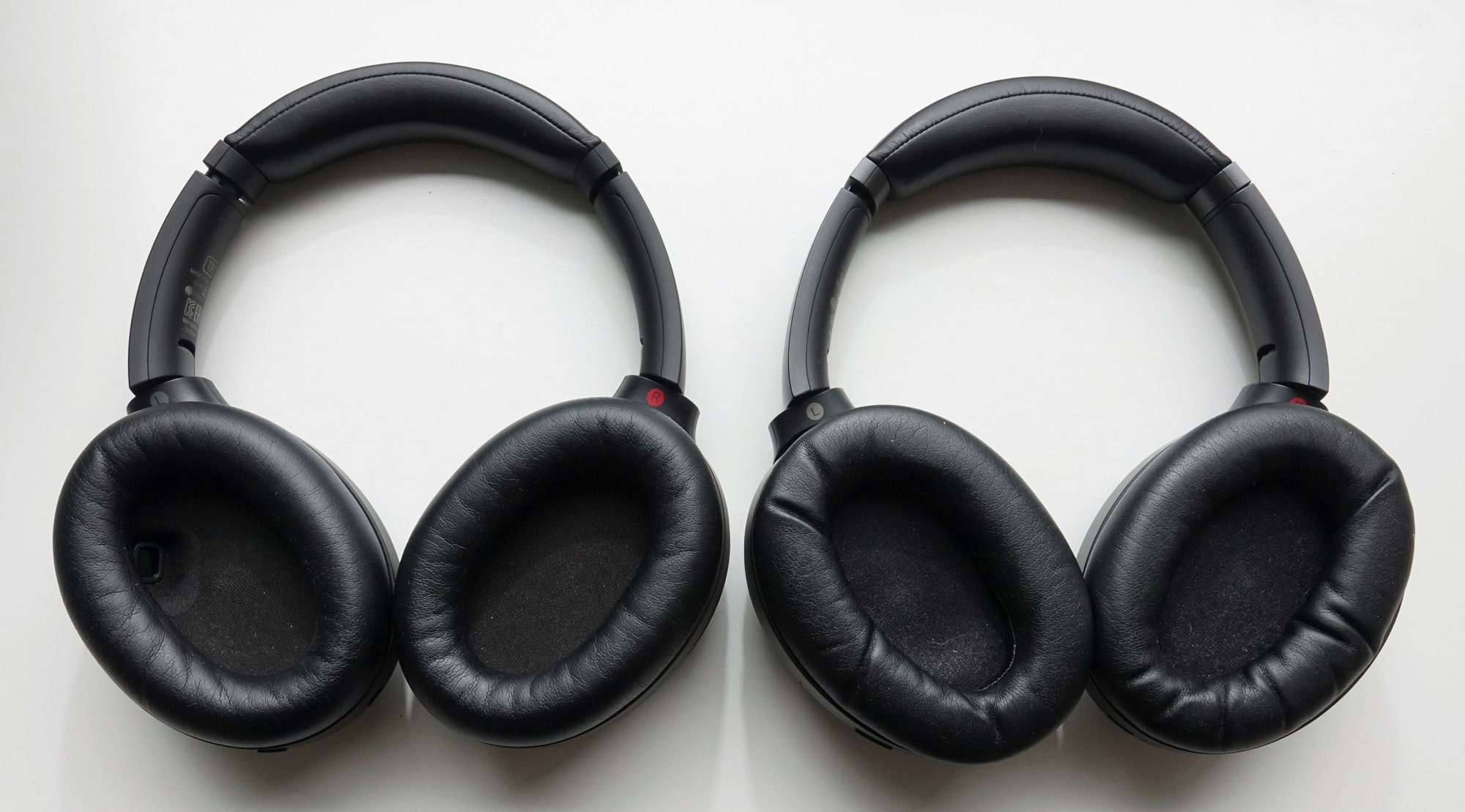 Headphones compared: the Sony WH-1000XM4 (left) vs the Sony WH-1000XM3 (right)