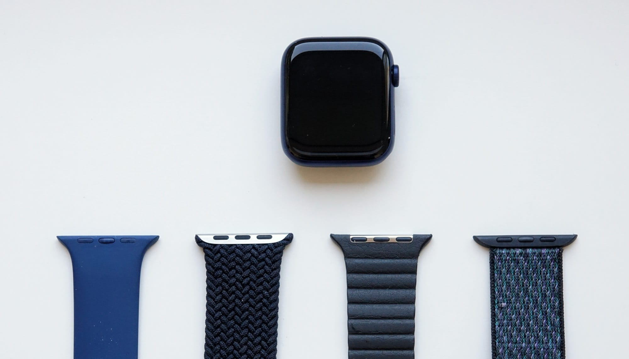 The blue Series 6 Apple Watch is almost grey or black, but armed with the right band, and it can look blue.