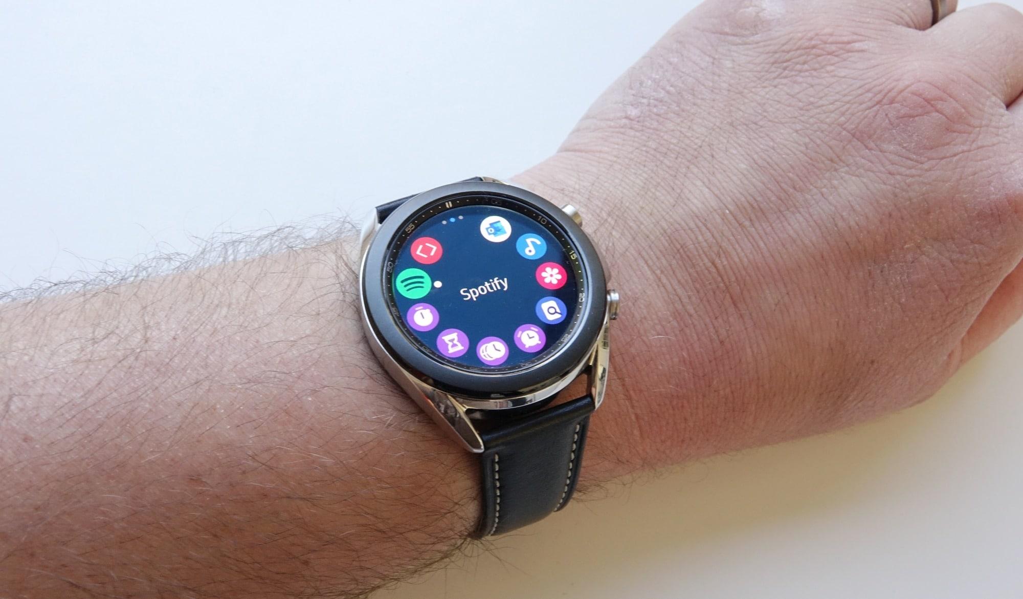 The app menu on the Galaxy Watch 3