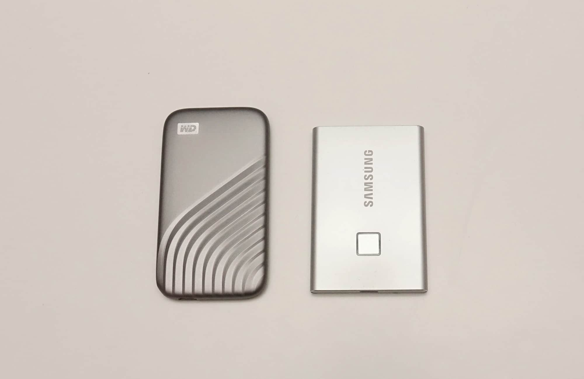 WD My Passport SSD vs Samsung T7 Touch SSD