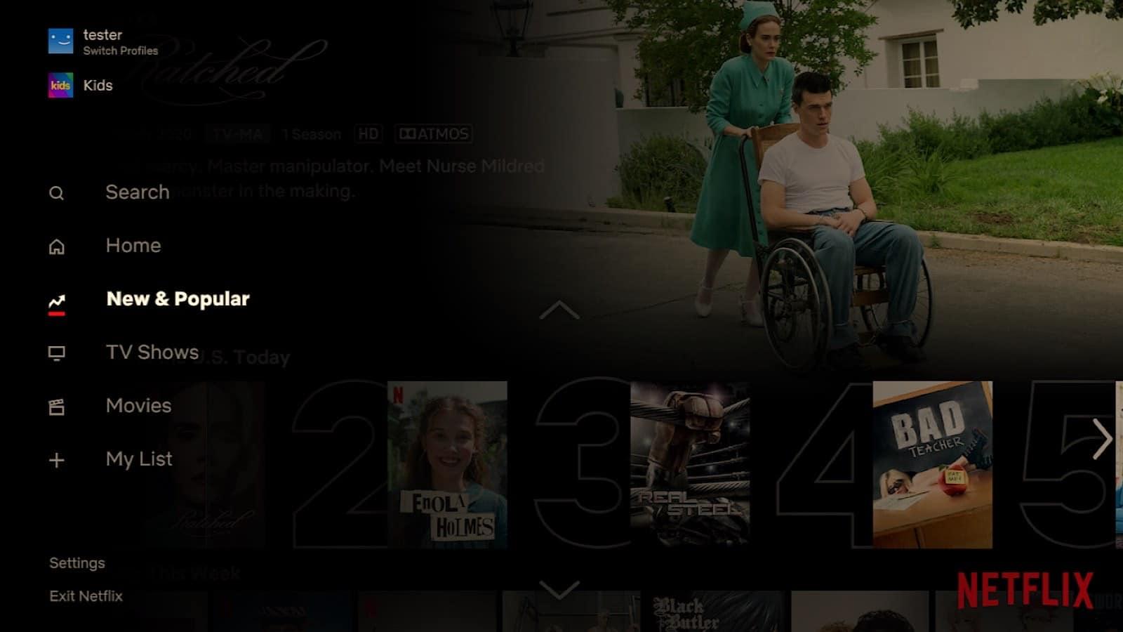 "Netflix's ""New & Popular"" addition"